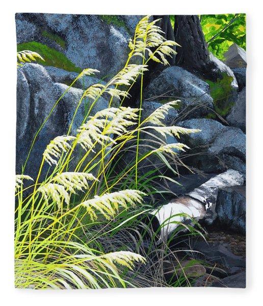 Tall Grass In A Breeze Fleece Blanket
