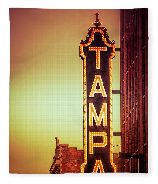 Fleece Blanket featuring the photograph Tampa Theatre by Carolyn Marshall