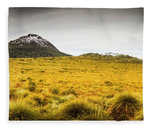 Tasmania Mountains Of The East-west Great Divide  Fleece Blanket