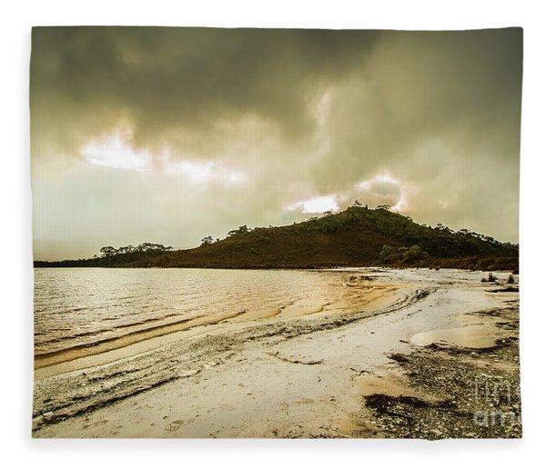 Teds Beach At Dusk Fleece Blanket
