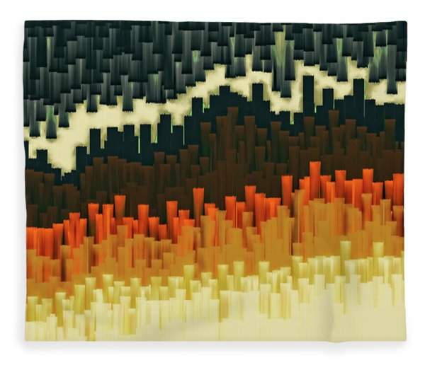 Fleece Blanket featuring the digital art Teeth 030517 by Matt Lindley