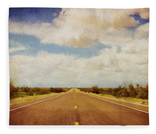 Texas Highway Fleece Blanket