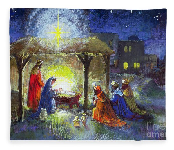 The Adoration Of The Magi  Fleece Blanket