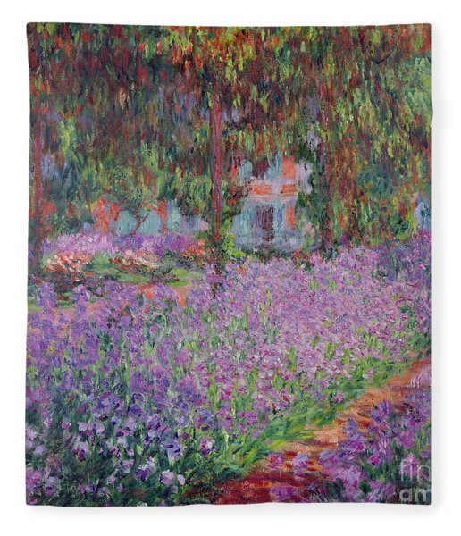 The Artists Garden At Giverny Fleece Blanket