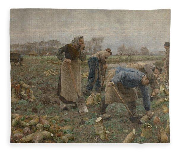 The Beet Harvest Fleece Blanket