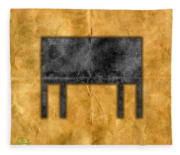 The Black Table Fleece Blanket