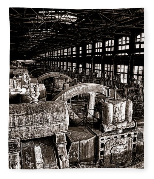 The Blower House At Bethlehem Steel  Fleece Blanket
