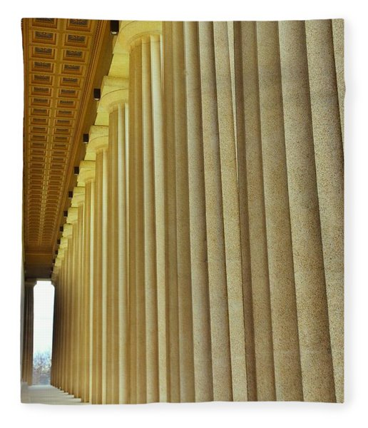 The Columns At The Parthenon In Nashville Tennessee Fleece Blanket