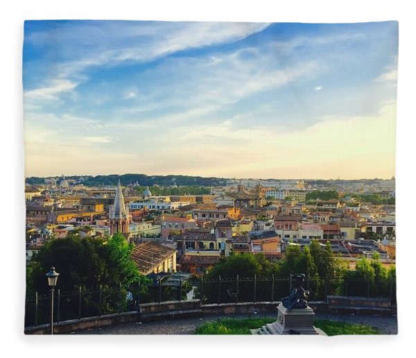 The Domes Of Rome Fleece Blanket
