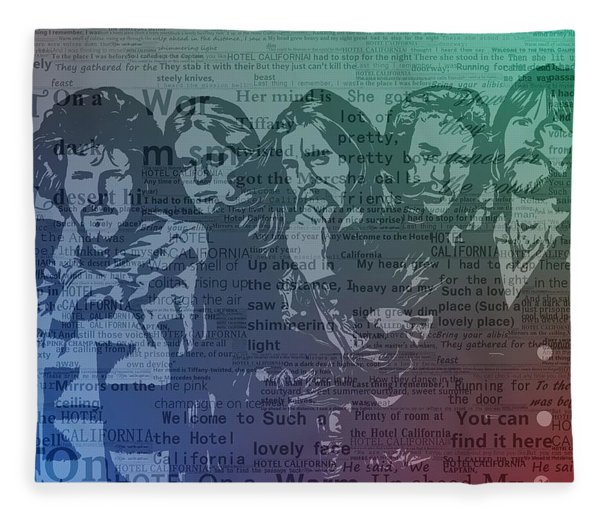 The Eagles Hotel California Fleece Blanket