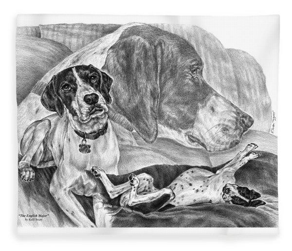 The English Major - English Pointer Dog Fleece Blanket