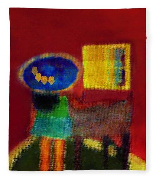 The Girl In The Mirror 2 Fleece Blanket