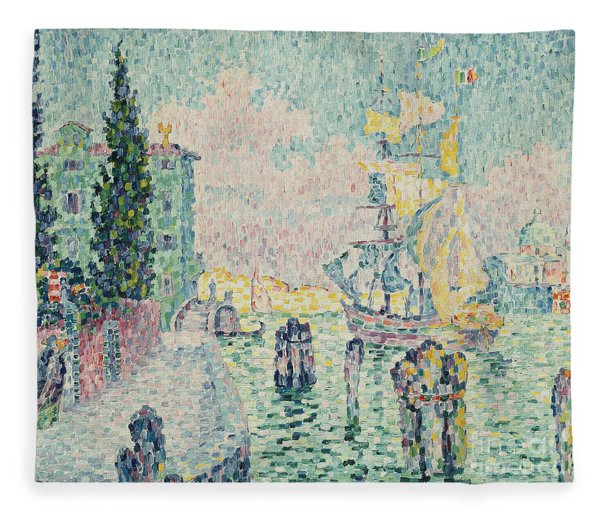The Green House, Venice Fleece Blanket