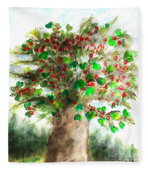 The Holy Oak Tree Fleece Blanket