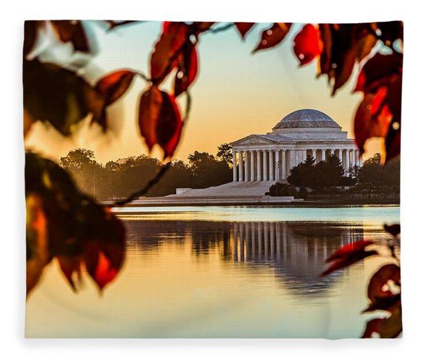 Jefferson In Autumn Fleece Blanket