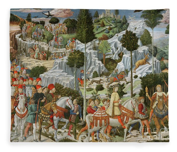 The Journey Of The Magi To Bethlehem Fleece Blanket