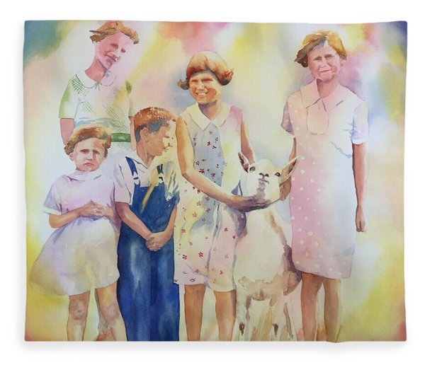 The Kids And The Kid Fleece Blanket