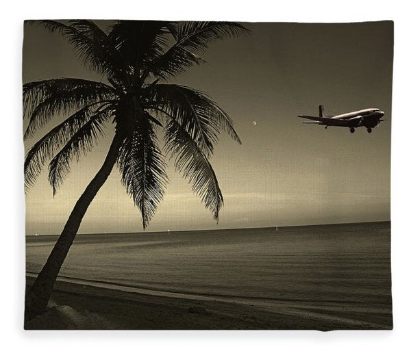 The Last Flight Out Fleece Blanket