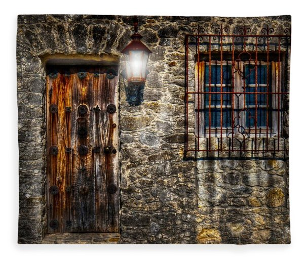 The Mission At Goliad Fleece Blanket