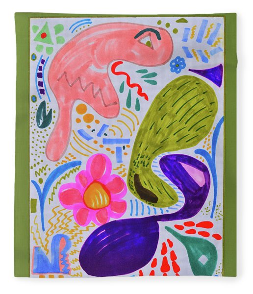 The Misunderstood Pickle Fleece Blanket
