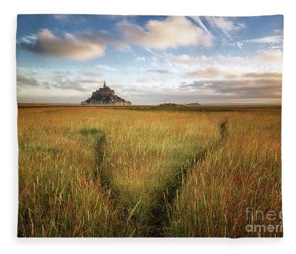 The Mont Saint-michel's Bay Fleece Blanket