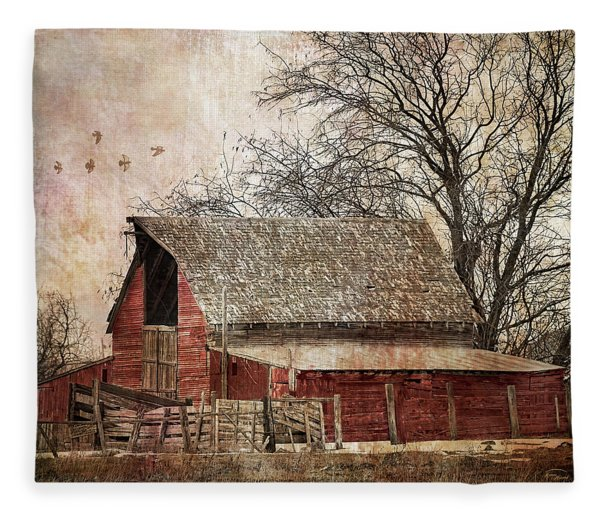 The Old Cope Barn Fleece Blanket