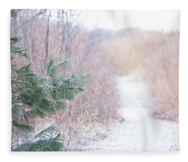 The Path Untraveled  Fleece Blanket