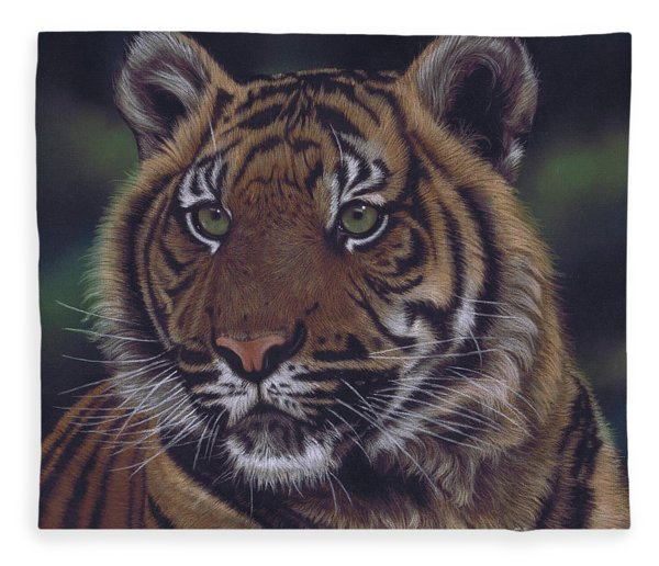 The Prince Of The Jungle Fleece Blanket