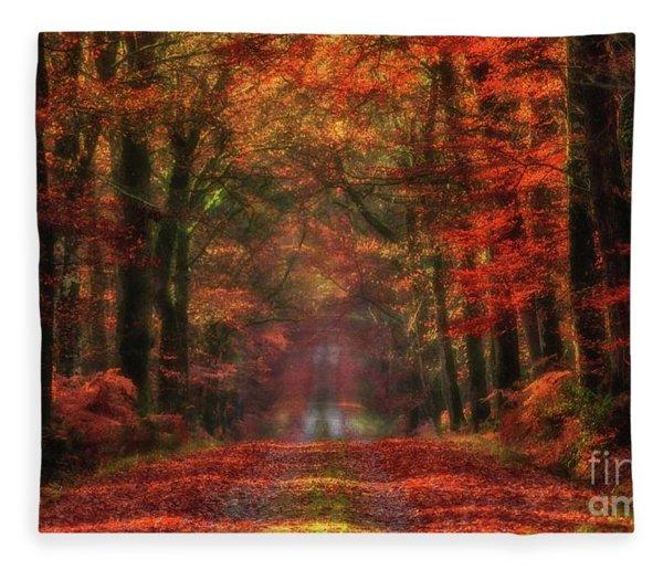 The Red Path 2 Fleece Blanket
