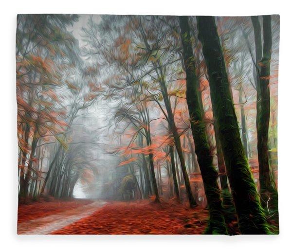 The Red Path Fleece Blanket
