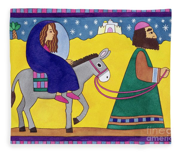 The Road To Bethlehem Fleece Blanket