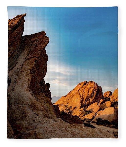 The Rocks Of Vasquez Fleece Blanket