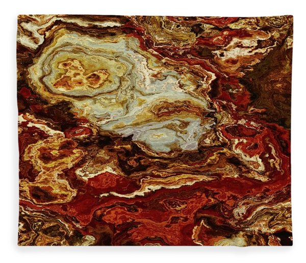 Fleece Blanket featuring the digital art The Sanguine Faithful by Matt Lindley