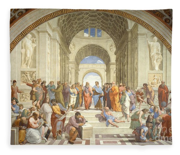 The School Of Athens, Raphael Fleece Blanket