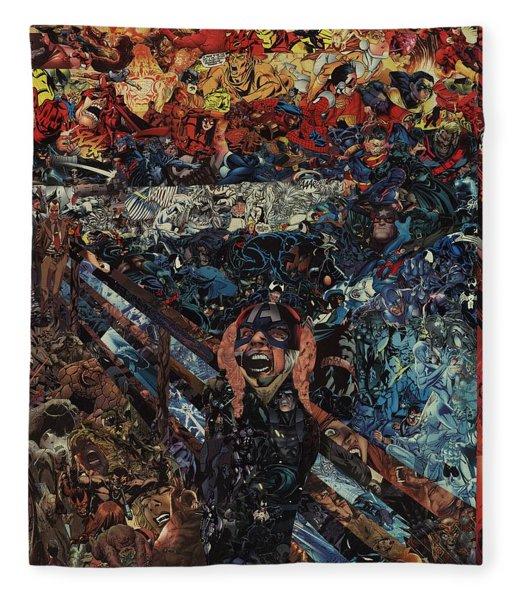 The Scream After Edvard Munch Fleece Blanket