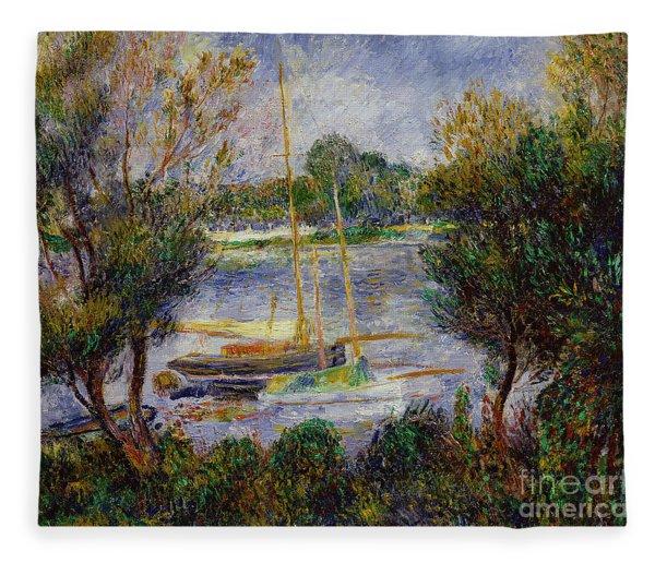 The Seine At Argenteuil Fleece Blanket