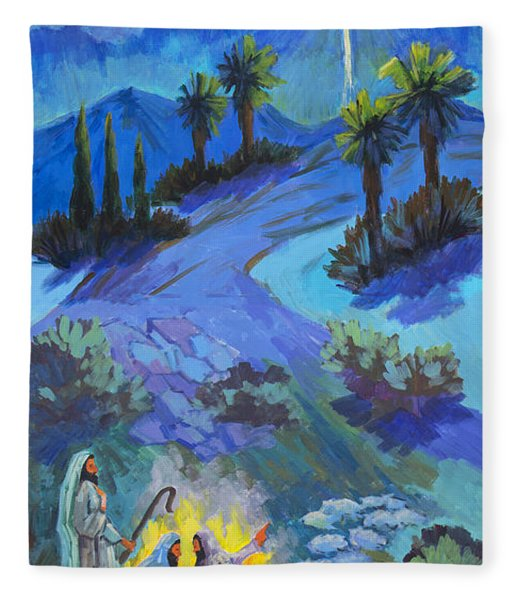 The Shepherds And The Star Fleece Blanket