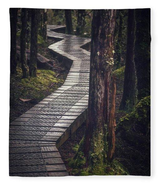The Shining Path Fleece Blanket