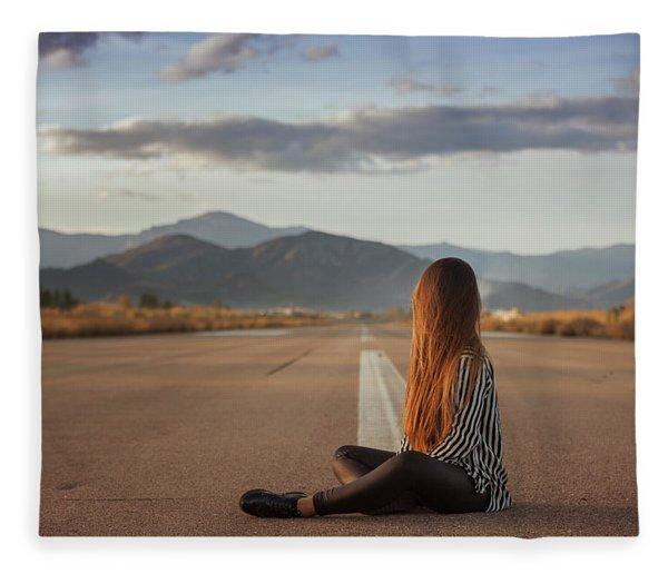 The Silence Of Solitude Fleece Blanket