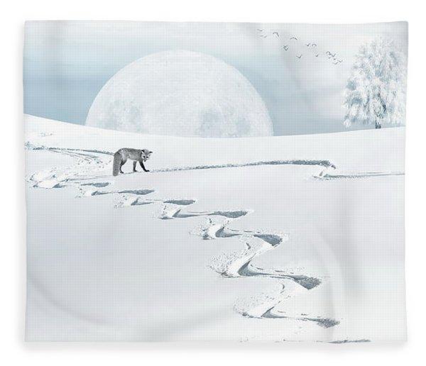 The Silver Fox Fleece Blanket