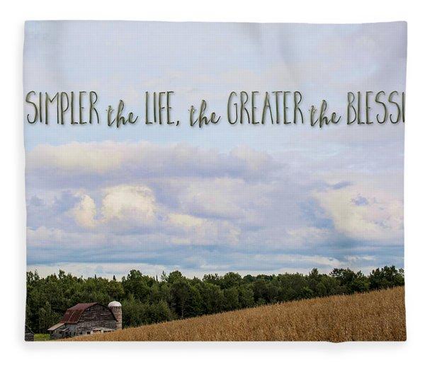 The Simpler Life Fleece Blanket