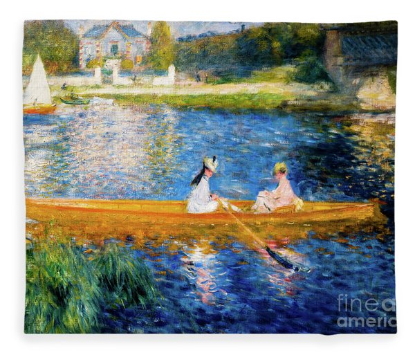 Renoir Boating On The Seine Fleece Blanket