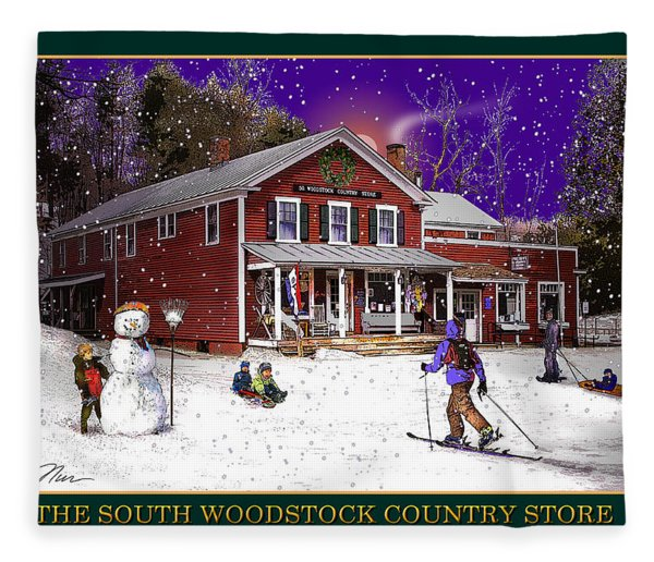 The South Woodstock Country Store Fleece Blanket