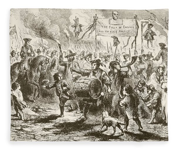 The Stamp Act Riots In New York, 1765 Fleece Blanket