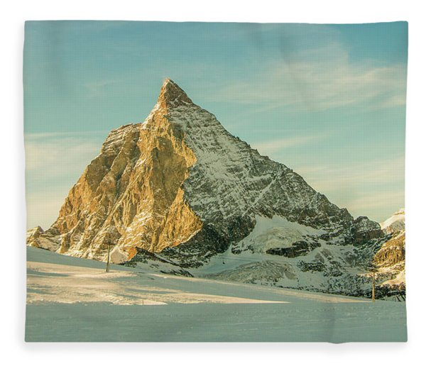The Sun Sets Over The Matterhorn Fleece Blanket