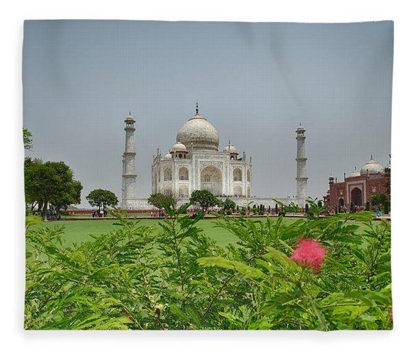 The Taj Mahal Fleece Blanket