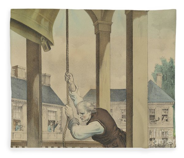The Tocsin Of Liberty Rung By The State House Bell, Philadelphia On July 4th 1776 Fleece Blanket