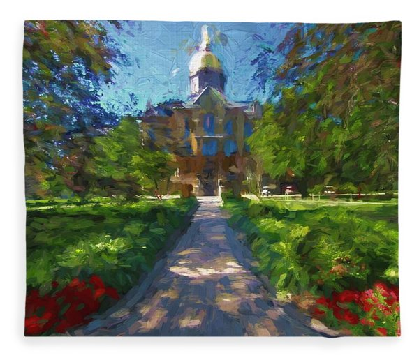 The University Of Notre Dame Fleece Blanket