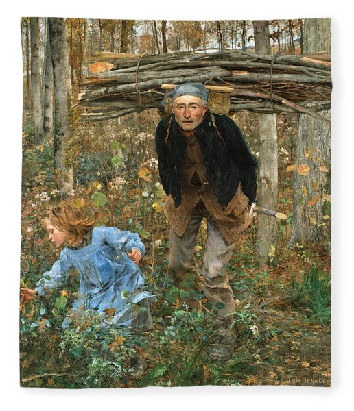 The Wood Gatherer Fleece Blanket
