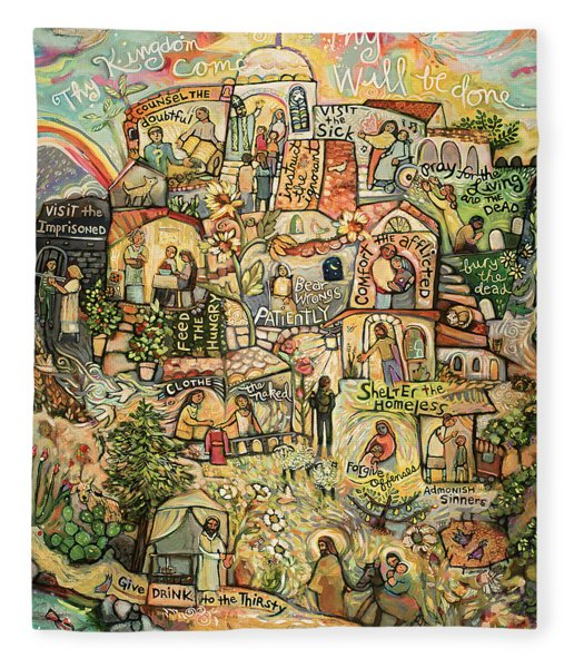 The Works Of Mercy Fleece Blanket